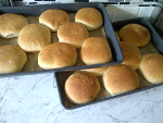 Large Hamburger Baps Made at Home