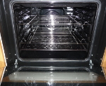 Sparkling oven shelves using biological washing powder